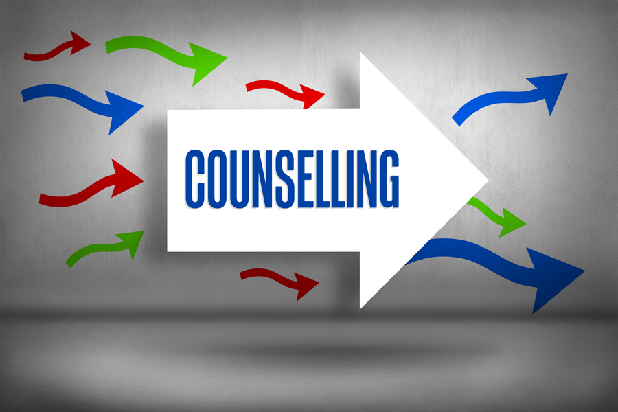 Counselling - against arrows pointing
